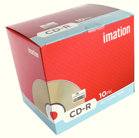 Imation CD-R 80 52X Slim Inkjet Hub Pk10