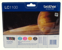 Brother LC1100 Ink Cart Value Pack KCMY