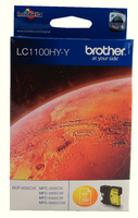 Brother LC1100 HY Ink Cart Ylw LC1100HYY