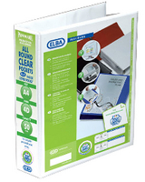Elba A4 50mm 4D Ring Pres Binder White
