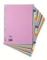 Elba A4 Card Dividers 20 Part Assorted
