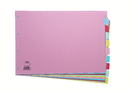 Elba A3 Card Dividers 10 Part Assorted
