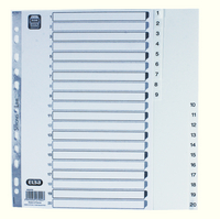 Elba A4 Polyprop Index 1-20 White