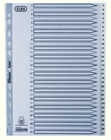 Elba A4 Polyprop Index 1-31 White
