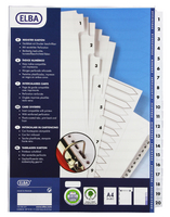 Elba A4 Mylar Index 1-20 White