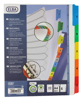 Elba A4plus Mylar Multi Col Index 1-5