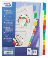 Elba A4plus Mylar Multi Col Index 1-10