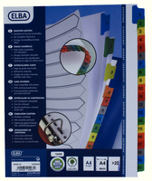 Elba A4plus Mylar Multi Col Index 1-20