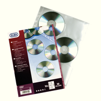 Elba CD/DVD Pocket Clear Pk10