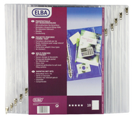 Elba Ring Binders Pocket Clear Pk10