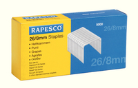 Rapesco Staples 8mm 26/8 Pk5000