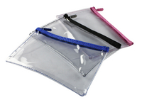 Helix Clear Pencil Case 200x125 Ast Pk12