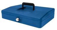 Helix 30cm Sloping Lid Cash Box Blue