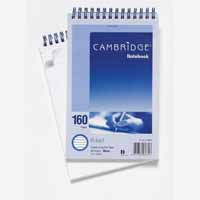 Cambridge Notebook 5x8 Ft Spiral 80Lf