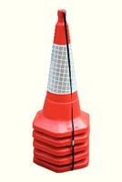 JSP 75Cm/30In Std One Piece Cone Pk5 Red