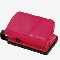 Q-Connect Light Duty Hole Punch Red