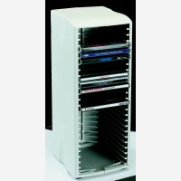 Q Connect Cd Tower 20 Capacity Grey