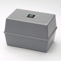 Q Connect Card Index Box 5x3 Grey
