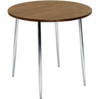 FF Arista Round Bistro Table Wal/Chrome