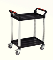 Barton 2Shelf Plastic Trolley WHTT2SS