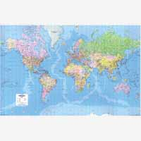 Map Giant World Political Laminated Map