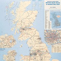 Map Sales/Marketing UK Laminated Map