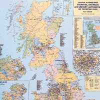 Map Counties/Unitary Auth UK Lamin Map