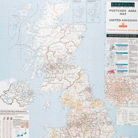 Map Postcode Area UK Laminated Map