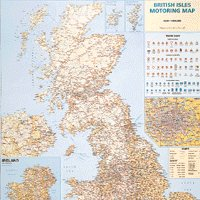 Map British Isles Motoring Laminated Map