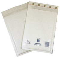MailLite BubbleLined Mailer White Pk50