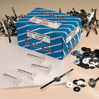 Paper Binders Tinned Steel with Washers 38mm