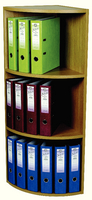 Rotadex Corner Unit 3 Tier Lt Oak CU18