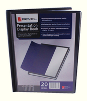 Rexel Pres Display Book A4 Black 12710BK
