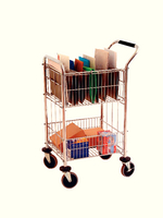 Mail Room Trolley Two Bskts Chr