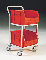 FD 2 Bin Storage Trolley Red 321292