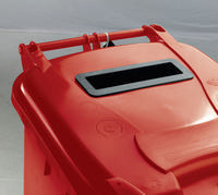 FD 120L Locked Red Wheelie Bin 377902