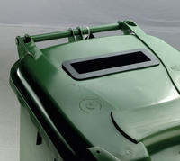 FD 120L Locked Green Wheelie Bin 377914