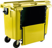 FD 1100L Drop Front Wheellie Bin Yellow