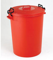 FD Dustbin 110L With Lid Red 382067
