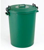 FD Dustbin 110L With Lid Green 382068