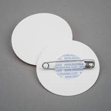 Badge Circular 40mm Dia White Pk150