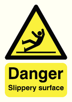 Danger Slippery Surface A5 S/A HA16451S