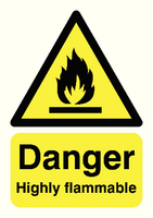 Danger Highly Flammable A5 S/A HA13051S