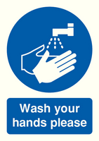 Wash Your Hands Please A5 PVC MD05851R
