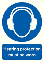 Hearing Protection Must be Worn A4 PVC