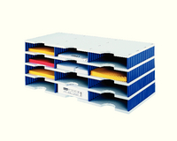 Styro Trio 12 Compartment Stand Gry/Blue