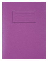 Silvine 9x7 Exer Book 80pp Ftm Purple