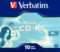 Verbatim CD-R 80mins MusicLife Audio P10